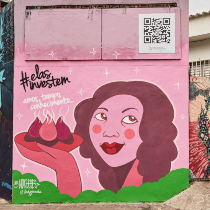 Muro grafitado no Beco do Batman - Homenageada: marcia Verlânia