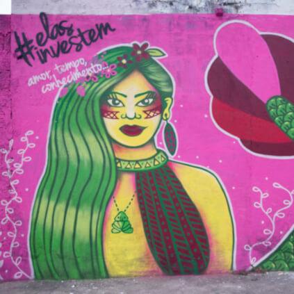 Muro grafitado em Manaus - Homenageada: Neurilene